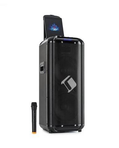 "Auna Moving 2100, PA systém, 2x10"" woofer, 100/300 W, UHF mikrofón, USB, SD, BT, AUX, prenosný"