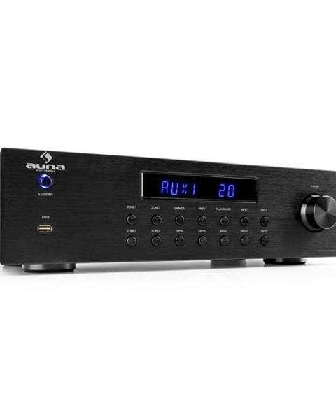 Auna Auna AV2-CD850BT, 4-zónový stereo zosilňovač, 8 x 50 W RMS, bluetooth, USB, CD, čierny
