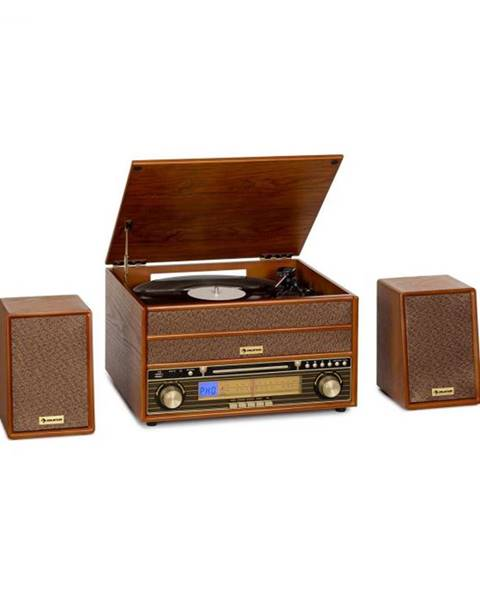 Auna Auna Belle Epoque 1910, retro stereo systém, gramofón, CD prehrávač, reproduktory