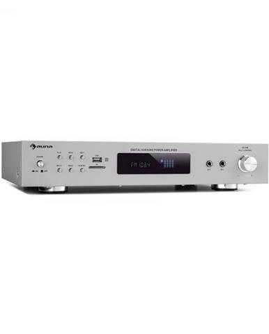 Auna AMP-9200, BT, digiálny stereo zosilňovač, 2x60W RMS, BT, 2xmikrofón, strieborný