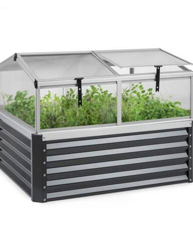 Blumfeldt High Grow Advanced, vyvýšený záhon so strechou, 120x95x100cm, 540l, oceľ, antracitový
