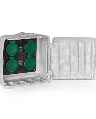 Waldbeck Power Rock Twilight 1, 4 x záhradná zásuvka, IP44, senzor stmievania