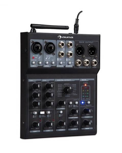 Auna Auna Pro Blackbird, 6-kanálový mixér, mixážny pult , BT, USB, MP3, 2 x XLR mikrofónový vstup, čierny