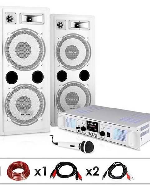 "Electronic-Star Electronic-Star DJ PA systém ""DJ-22"", zosilňovač, reproduktory, mikrofón, kábel, 2 x 350 W"