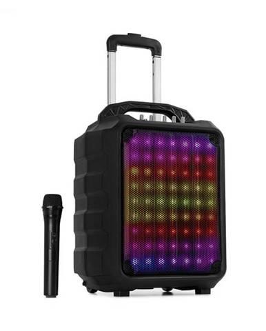 "Auna Moving 80.1, LED PA systém, 8"" subwoofer, max. 100 W, UHF mikrofon, USB, SD, BT, AUX, prenosný"