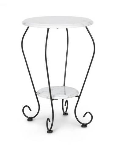 Blumfeldt Patras Flower, bistro stôl, 4-Seasons-Marble, vodovzdorný, biely