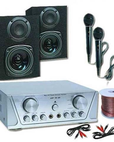 Electronic-Star HiFi set HVA 200 + MC 130 + 2 mikrofóny – karaoké 1