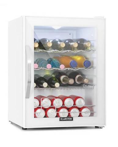 Klarstein Beersafe XL Quartz, chladnička, A++, 60 l, LED, 2 kovové rošty, sklenené dvere, biela