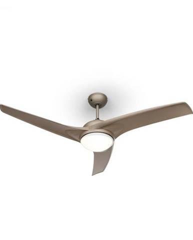 """Klarstein Figo, stropný ventilátor, 52"""", 55 W, stropná lampa, 2 x 42 W, diaľkový ovládač, titán"""