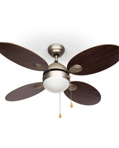 "Klarstein Valderama, stropný ventilátor, 42"", 60 W, stropná lampa, 2 x 43 W, palisander"