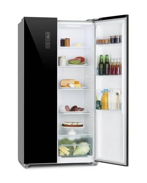 Klarstein Klarstein Grand Host L, chladnička s mrazničkou, presklené dvere, čierna