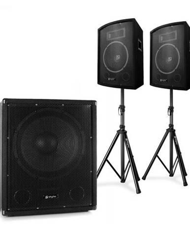 """Electronic-Star 2.1 aktívna PA DJ sada s bi-amp subwooferom, s párom 10"""" reproduktorov & statívmi"""