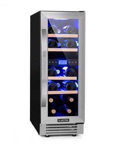 Klarstein Vinovilla Duo 17, dvojzónová vinotéka, chladnička, 53l, 17 fl., 3-farebné LED osvetlenie, sklené dvierka