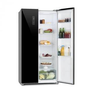 Klarstein Grand Host L, chladnička s mrazničkou, presklené dvere, čierna