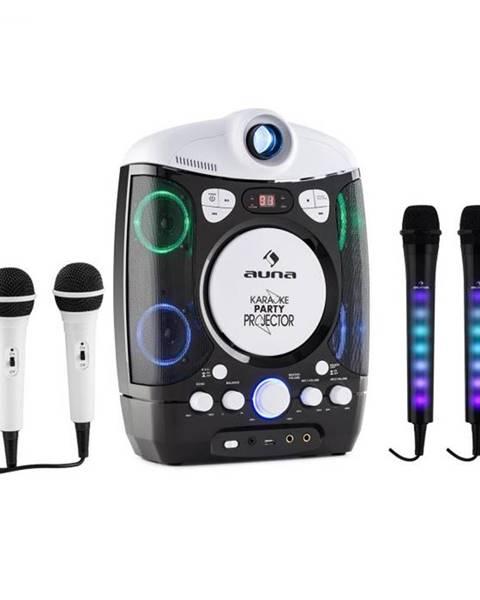 Auna Auna Set: karaoke systém Kara Projectura, čierny + dva mikrofóny Kara Dazzl, LED podsvietenie
