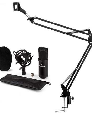 Auna CM001B mikrofónová sada V3, kondenzátorový mikrofón, mikrofónové rameno, čierna farba