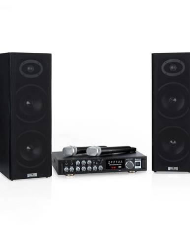 Auna Karaoke Star 4, karaoke sada, 2 x 80 W max., BT, USB port, 2 x bezdrôtový mikrofón