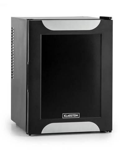 Klarstein Happy Hour, čierna s dekoratívnymi dverami, minibar, chladnička, 32 l, nehlučná, A+