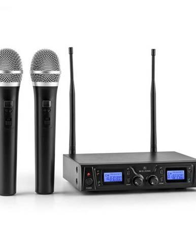 Malone Duett Pro V1, 2-kanálový UHF bezdrôtový mikrofónový set, dosah 50 m