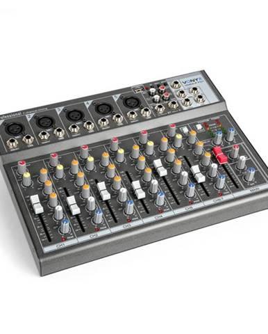 Vonyx VMM-F701 mixážny pult, 5x mono mikrofónový/line vstup, stereo line vstup/výstup