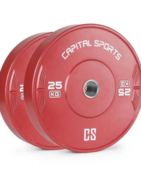 Capital Sports Capital Sports Nipton 25, kotúč, závažie, 2 x 25 kg, tvrdená guma, červený