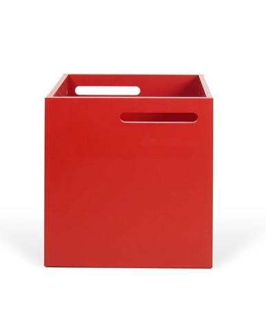 Červený úložný box ku knižniciam TemaHome Berlin
