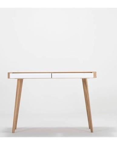 Konzolový stolík z dubového dreva Gazzda Ena