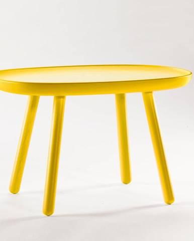 Žltý stolík z masívu EMKO Naïve, 61 x 41 cm
