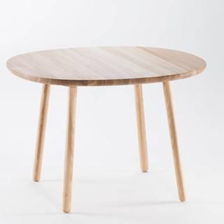 Prírodný jedálenský stôl z masívu EMKO Naïve, ⌀ 110 cm