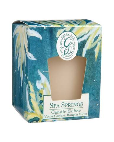 Sviečka s vôňou bergamotu Greenleaf Spa Springs, doba horenia 15 hodín