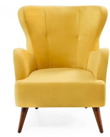 Žlté kreslo ušiak Balcab Home Jane