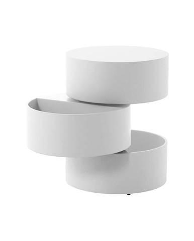 Biely odkladací stolík Actona Pop, ⌀40 cm
