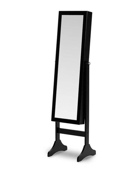 Chez Ro Čierna stojacia šperkovnica so zrkadlom Chez Ro Bien