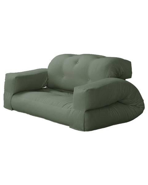 Karup Design Rozkladacia pohovka so zeleným poťahom Karup Design Hippo Olive Green