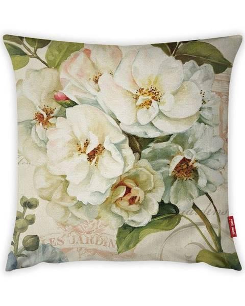 Vitaus Obliečka na vankúš Vitaus Pure Flower, 43×43 cm