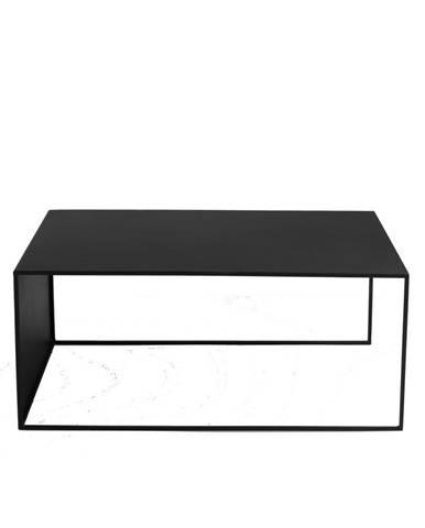 Čierny konferenčný stolík Custom Form 2Wall, dĺžka 100 cm