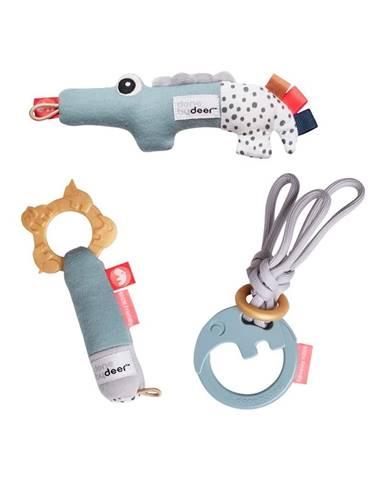 Súprava 3 aktívnych hračiek v darčekovom balení Done by Deer Tiny