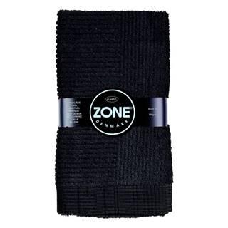Čierny uterák Zone Classic, 50×70cm