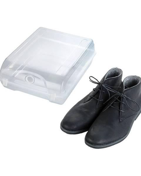 Wenko Transparentné úložný box na topánky Wenko Smart, šírka 29 cm