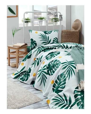 Bavlnená prikrývka cez posteľ Muniro Jungle, 160×235 cm