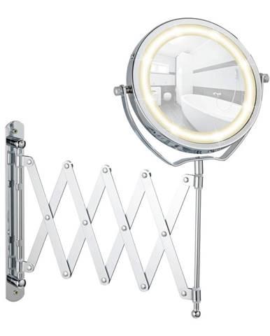 Chrómované kozmetické zrkadlo s LED svetlom Wenko Brolo