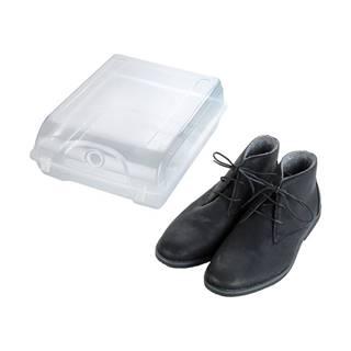 Transparentné úložný box na topánky Wenko Smart, šírka 29 cm