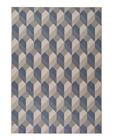 Béžovo-modrý vonkajší koberec Universal Silvana Miratta, 80 x 150 cm
