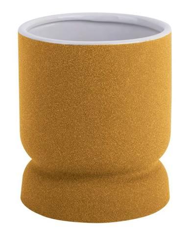 Žltá keramická váza PT LIVING Cast, výška17cm