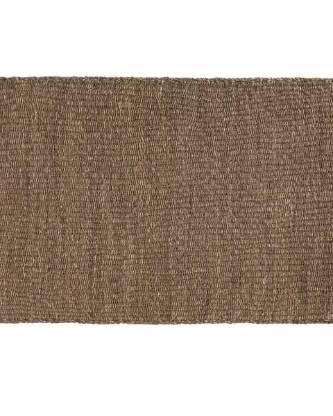 Geese Hnedý koberec z morských rias Geese Rustico Natura, 120 × 180 cm
