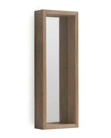 Nástenné zrkadlo z dreva paulovnie Geese Pure, 62×22 cm