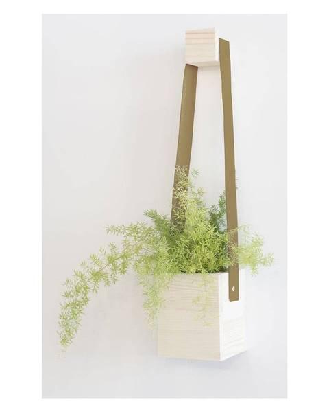 Surdic Hnedý kvetináč z jedľového dreva Surdic Colgante, 17 x 62 cm