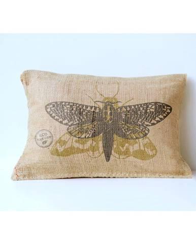 Obliečka na vankúš z juty Surdic Yute Moth, 50×35 cm