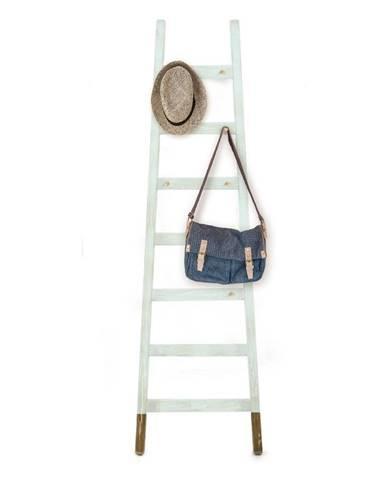 Odkladací dekoratívny rebrík z borovicového dreva Surdic Stair Aquamarina