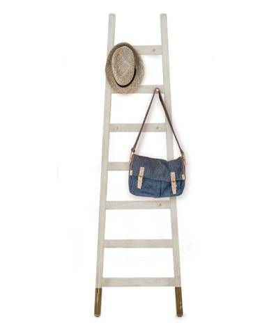 Sivý odkladací dekoratívny rebrík z borovicového dreva Little Nice Things Gris Hielo